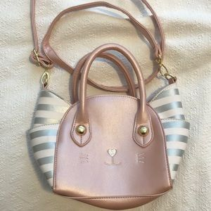 Betsey Johnson kitty cat purse